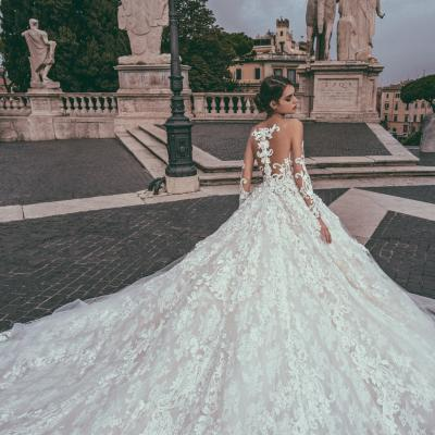 Luxury Wedding Dress Nyc Julia Kontogruni Couture Rome 07